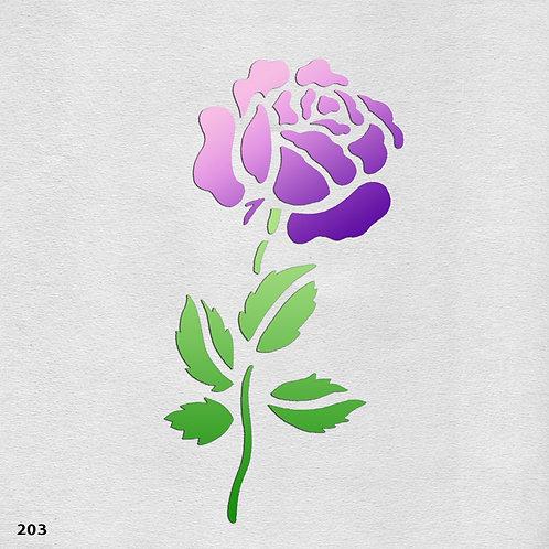 203 שבלונה פרחים - ורד מלכותי