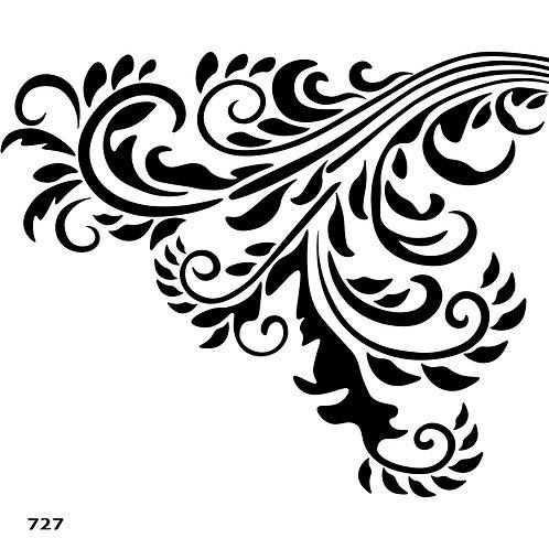 727 שבלונה עיטור קלאסי פינתי