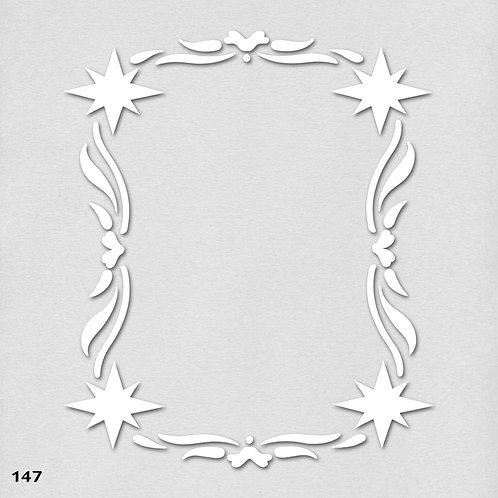 147 שבלונה מסגרת עם עיטורי כוכבים