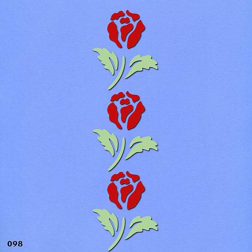 098 שבלונה בורדר פרחים