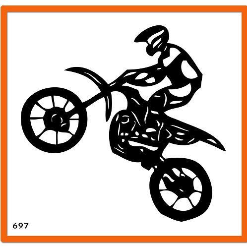 697 שבלונה אופנוען שטח בהרמת גלגל