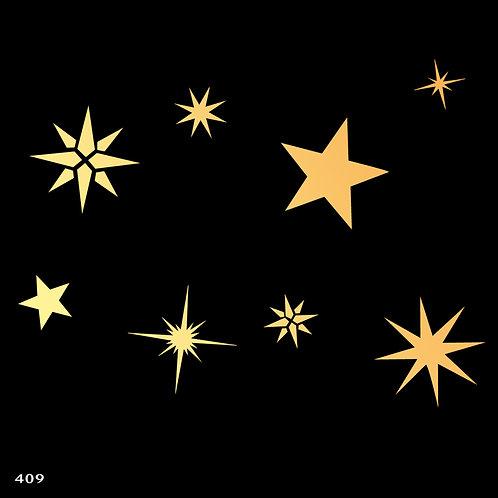 409 שבלונה כוכבים מסוגים שונים