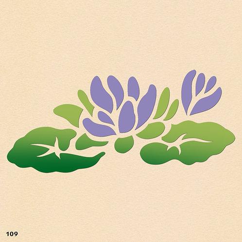 109 שבלונה פרחים -  שושנות מים