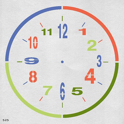525 שבלונה שעון קיר