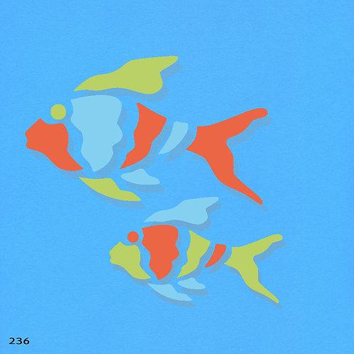 236 שבלונה זוג דגים