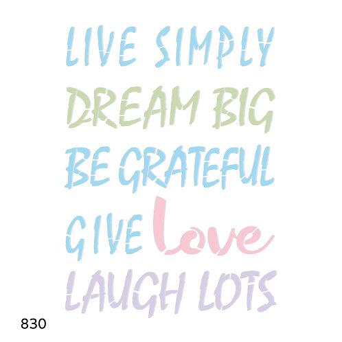 830 שבלונה Leave simply.......