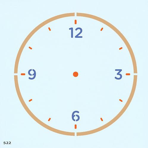 522 שבלונה שעון קיר
