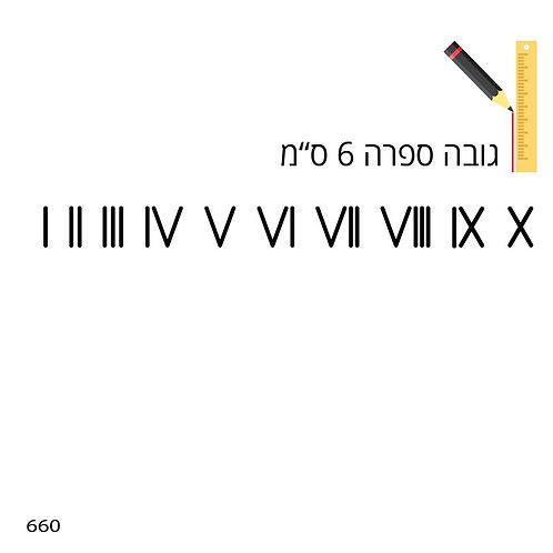 שבלונת ספרות רומיות 660