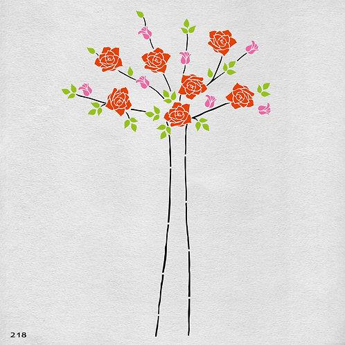 218 שבלונה פרחים  - ורדים