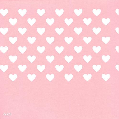 625 שבלונה טפט בדוגמת לבבות