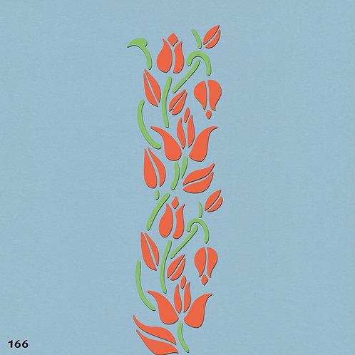 166 שבלונה בורדר עיטורי צמחים