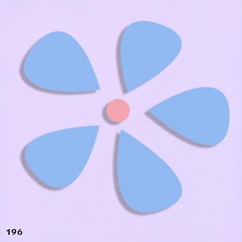 196 שבלונה פרחים - בסגנון מודרני