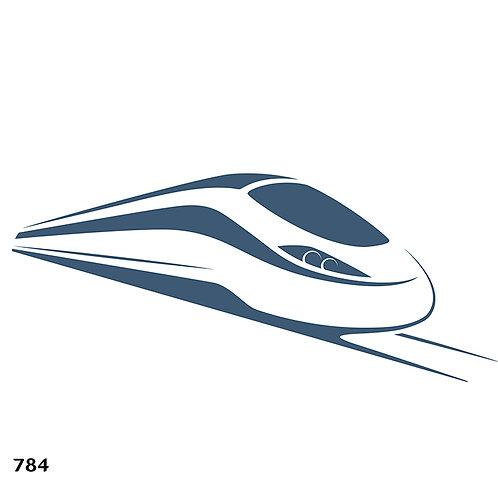 784 שבלונה רכבת מהירה