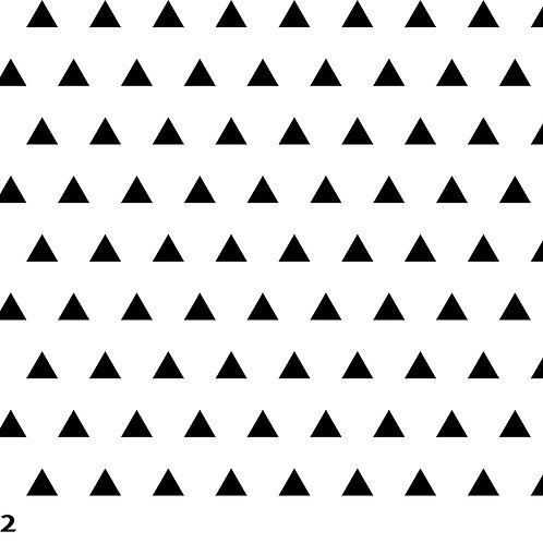 722 שבלונה טפט בדוגמת משולשים