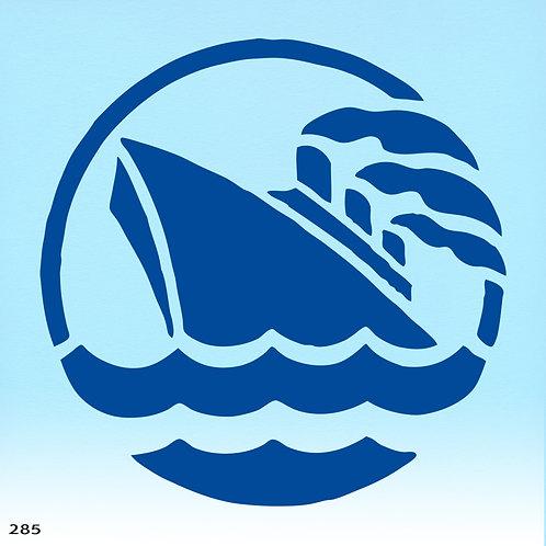 285 שבלונה אניה בים
