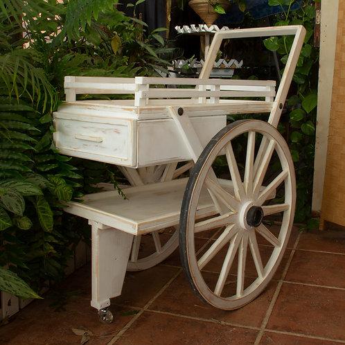 3501001 עגלת הגשה/עגלת קפה/נשיאה/לבית ולגינה בעלת גלגלי עץ