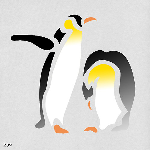 239 שבלונת פינגווינים
