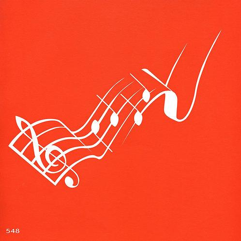 548 שבלונה תווי מוסיקה