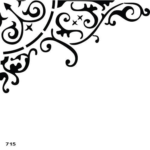 715 שבלונה עיטור קלאסי פינתי