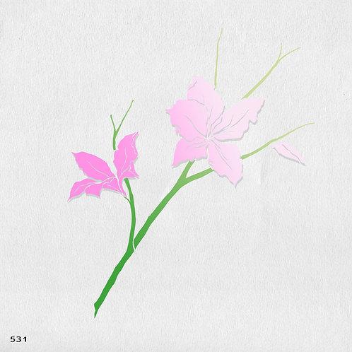 531 שבלונה פרחי בוהנייה