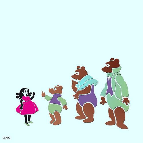 310 שבלונה זהבה ושלושת הדובים