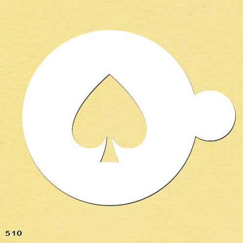 510 שבלונה ליצירת דוגמאות בקפה ובעוגות בצורת לב