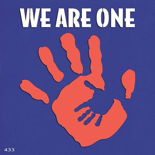 433 שבלונה כפות ידיים WE ARE ONE