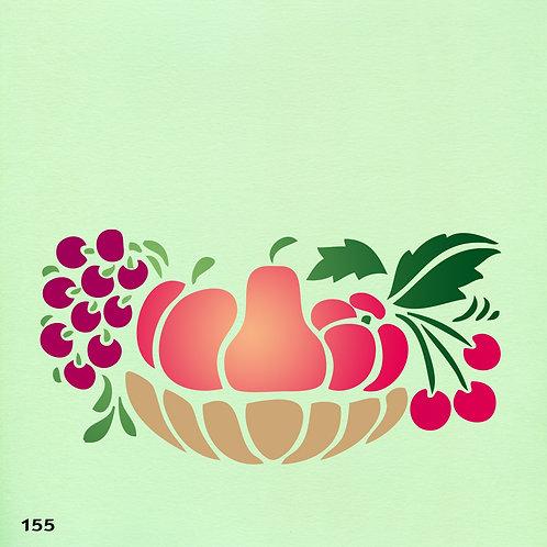 155 שבלונה סלסלת פירות