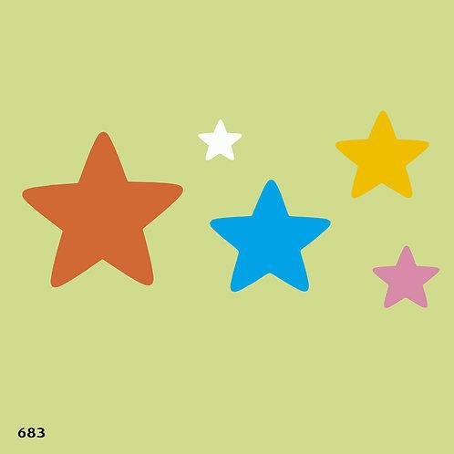 683 שבלונה כוכבים