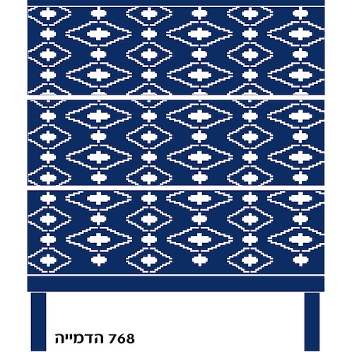 768 שבלונה טפט בדוגמת מעין בסגנון יווני