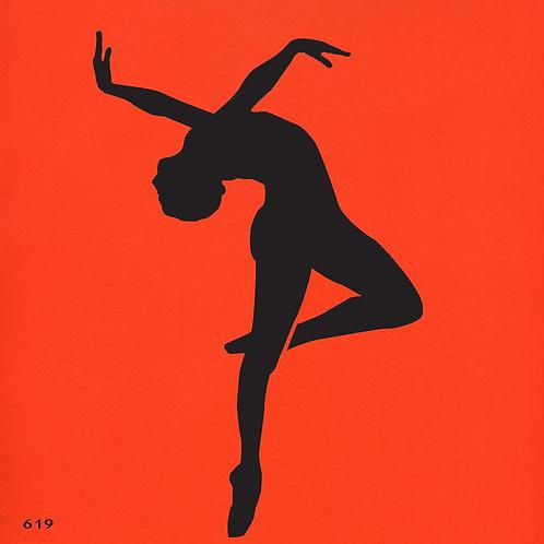 619 שבלונה רקדנית בסגנון מודרני