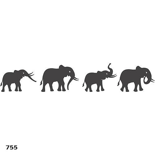 755 שבלונה שיירת פילים