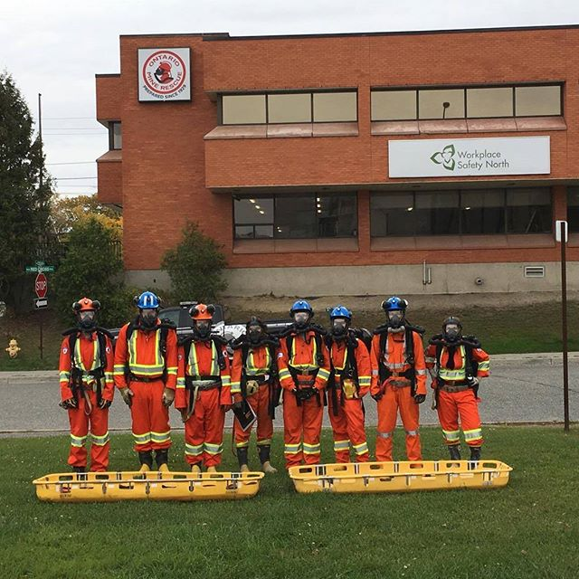 The next group of LU mine rescuers are getting trained with _ontariominerescue this week.jpg They're