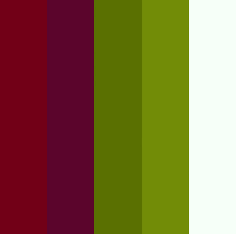 red plum green white color palette