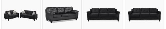 Living room ideas black sofa