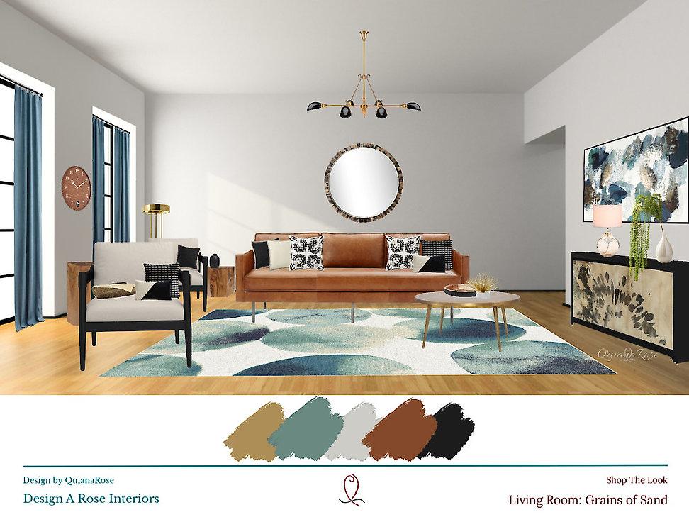 Grains of Sand Living Room Design A Rose