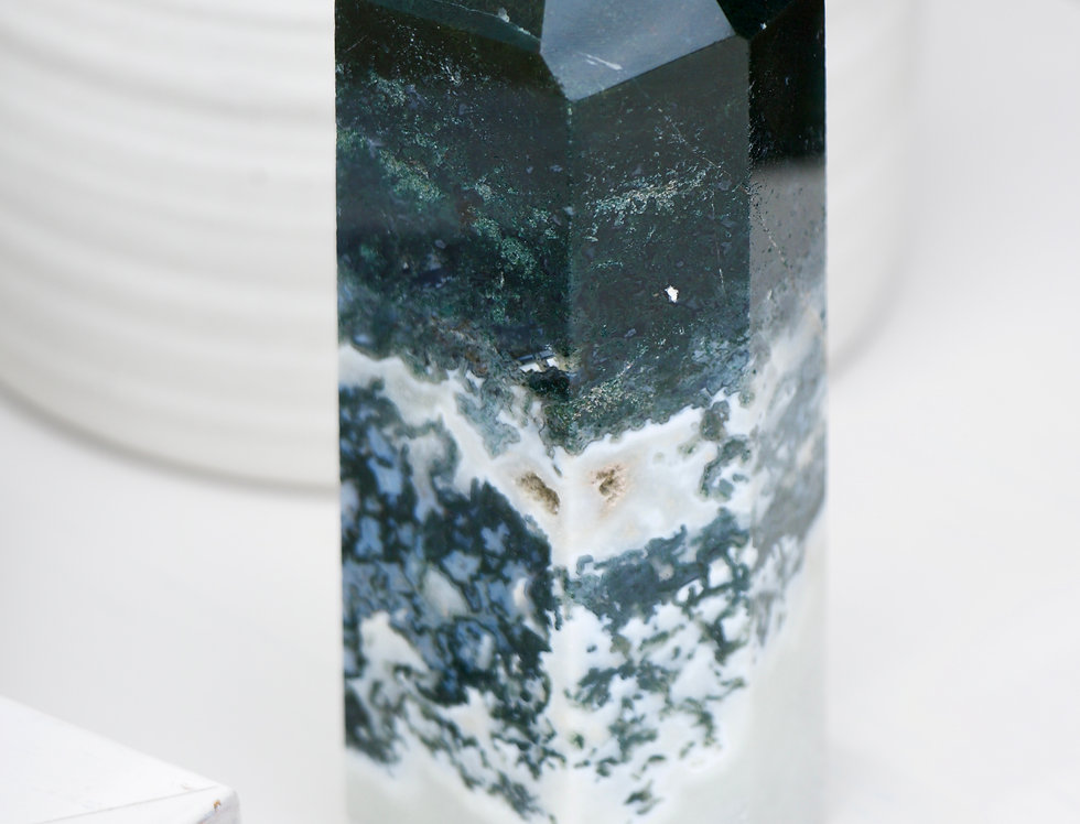 Large Moss Agate Tower A3