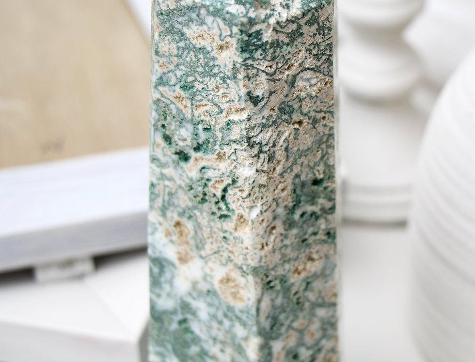 XXL Statement Piece Moss Agate Tower A4