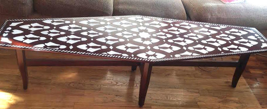 """Stenciled Coffee Table"""