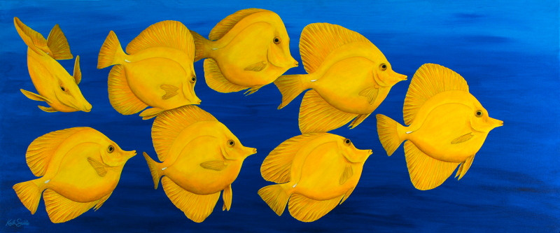 Yellow Tangs - For a Florida Hotel