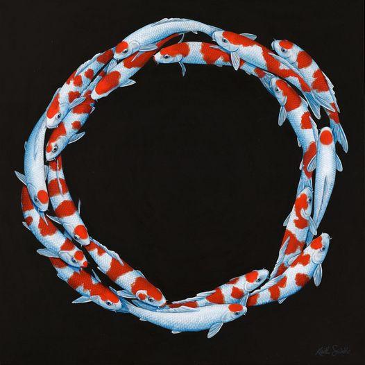 Koi Circling I (Sold)