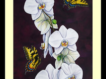 Swallowtails & Moth Orchid I