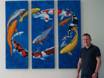 Keith with Koi Triptych