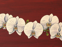 White Orchid & Swallowtails