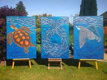 Eagle Ray / Sardines / Green Turtle