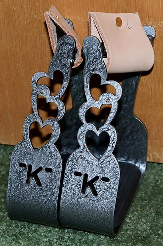 """2"""" Chain of Hearts with Initials"""
