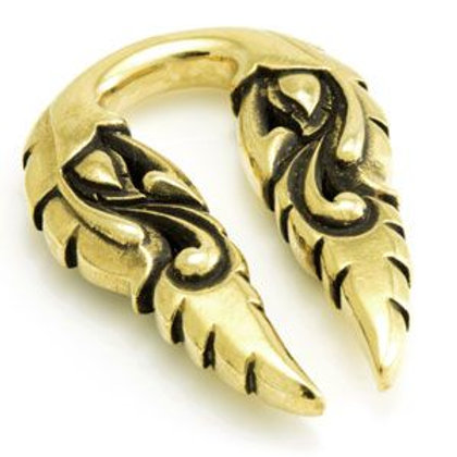 Brass Weight Ornate Ear Stretcher