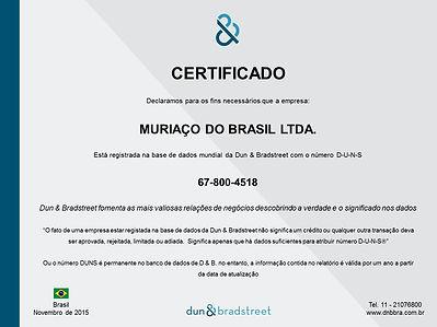 Certificado Muriaço D&B
