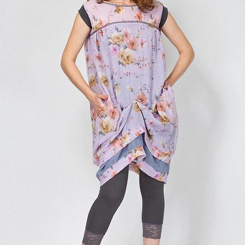 Платье Аквамарин свободное с драпировкой двойное