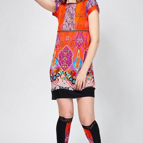 Платье Ориенталь с кружевной кокеткой